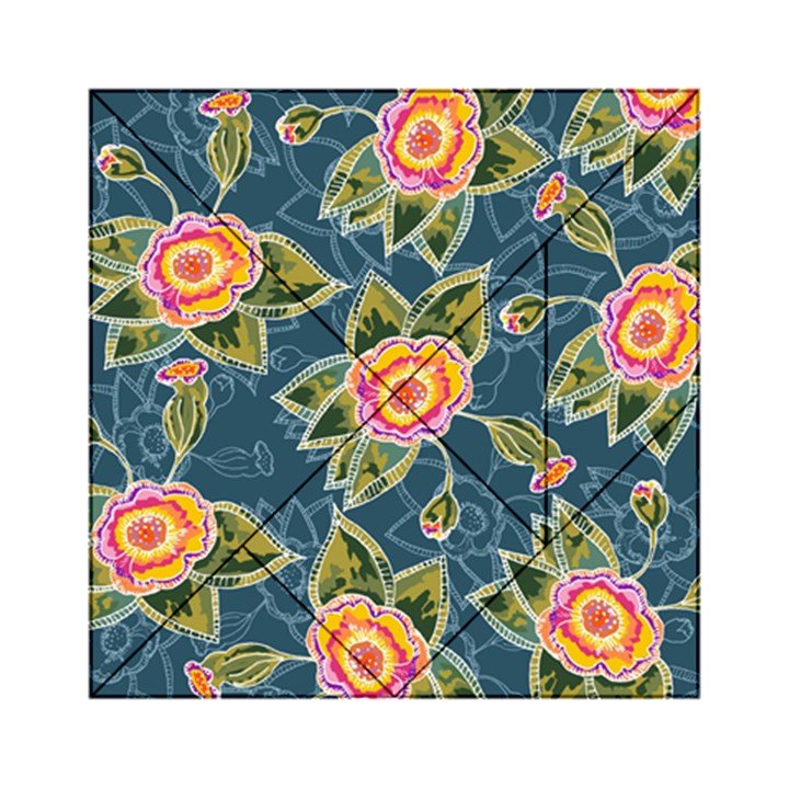 Floral Fantsy Pattern Acrylic Tangram Puzzle (6  x 6 )