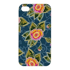 Floral Fantsy Pattern Apple Iphone 4/4s Premium Hardshell Case