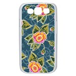 Floral Fantsy Pattern Samsung Galaxy S III Case (White) Front