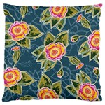 Floral Fantsy Pattern Large Cushion Case (One Side) Front