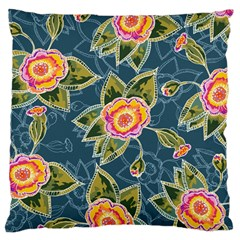 Floral Fantsy Pattern Large Cushion Case (Two Sides)