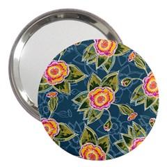 Floral Fantsy Pattern 3  Handbag Mirrors
