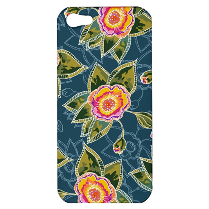 Floral Fantsy Pattern Apple iPhone 5 Hardshell Case
