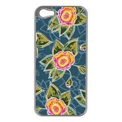 Floral Fantsy Pattern Apple iPhone 5 Case (Silver)