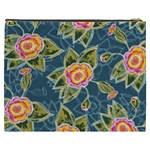 Floral Fantsy Pattern Cosmetic Bag (XXXL)  Back