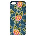 Floral Fantsy Pattern Apple iPhone 5 Seamless Case (Black) Front