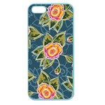 Floral Fantsy Pattern Apple Seamless iPhone 5 Case (Color) Front
