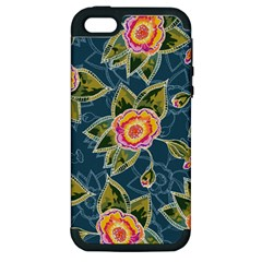 Floral Fantsy Pattern Apple iPhone 5 Hardshell Case (PC+Silicone)