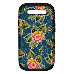Floral Fantsy Pattern Samsung Galaxy S III Hardshell Case (PC+Silicone)