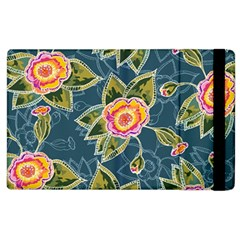 Floral Fantsy Pattern Apple iPad 2 Flip Case