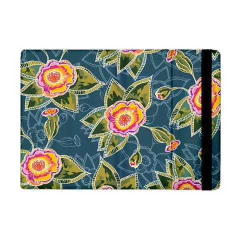 Floral Fantsy Pattern Apple iPad Mini Flip Case