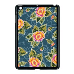 Floral Fantsy Pattern Apple iPad Mini Case (Black)