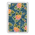 Floral Fantsy Pattern Apple iPad Mini Case (White) Front