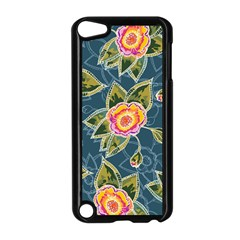Floral Fantsy Pattern Apple iPod Touch 5 Case (Black)
