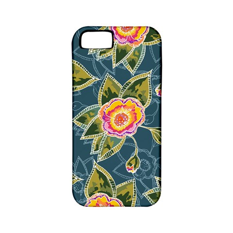 Floral Fantsy Pattern Apple iPhone 5 Classic Hardshell Case (PC+Silicone)