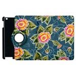 Floral Fantsy Pattern Apple iPad 3/4 Flip 360 Case Front