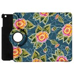 Floral Fantsy Pattern Apple iPad Mini Flip 360 Case Front