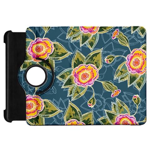 Floral Fantsy Pattern Kindle Fire HD Flip 360 Case