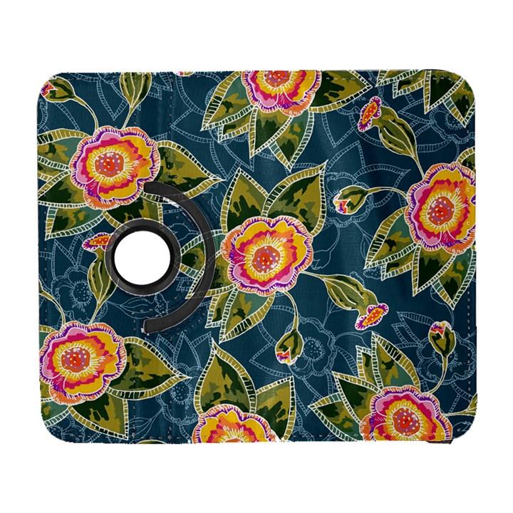 Floral Fantsy Pattern Samsung Galaxy S  III Flip 360 Case