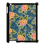 Floral Fantsy Pattern Apple iPad 3/4 Case (Black) Front
