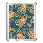 Floral Fantsy Pattern Apple iPad 3/4 Case (White) Front