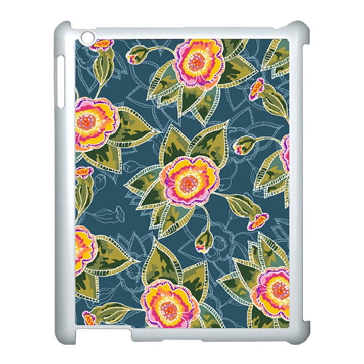 Floral Fantsy Pattern Apple iPad 3/4 Case (White)