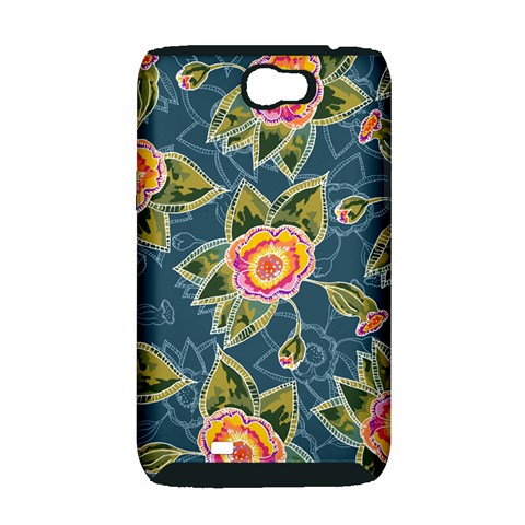Floral Fantsy Pattern Samsung Galaxy Note 2 Hardshell Case (PC+Silicone)