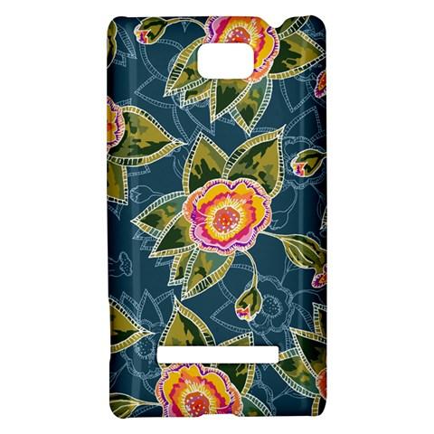 Floral Fantsy Pattern HTC 8S Hardshell Case