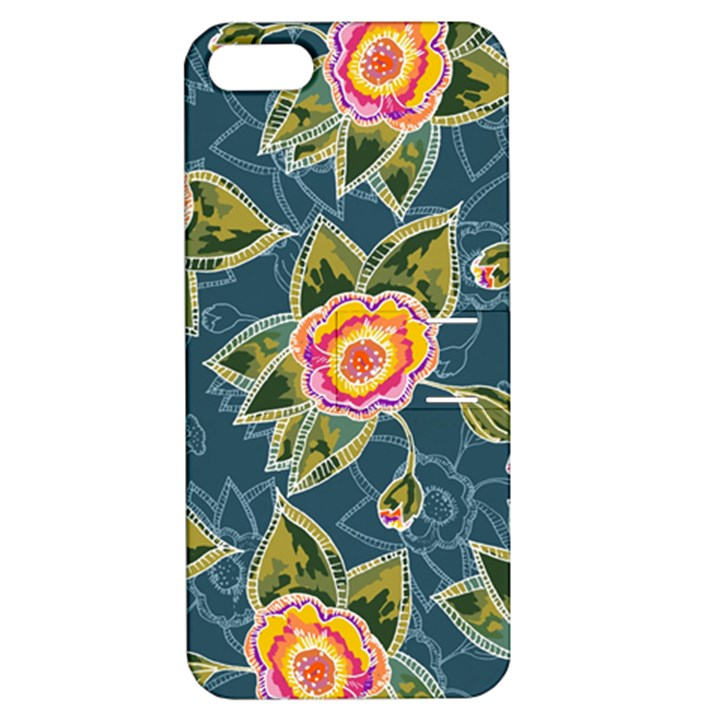 Floral Fantsy Pattern Apple iPhone 5 Hardshell Case with Stand