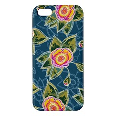 Floral Fantsy Pattern Apple iPhone 5 Premium Hardshell Case