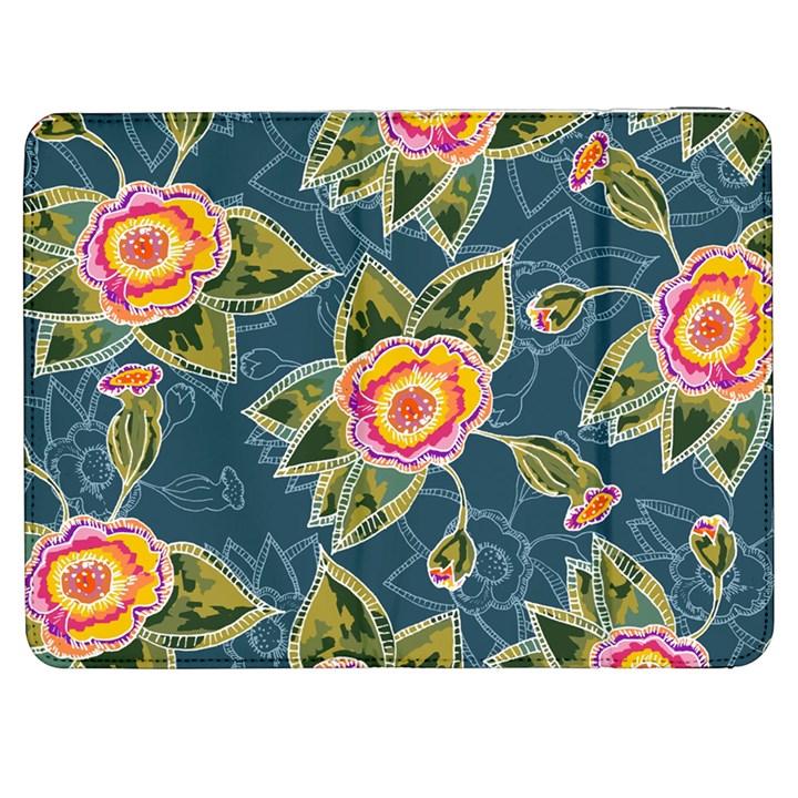 Floral Fantsy Pattern Samsung Galaxy Tab 7  P1000 Flip Case