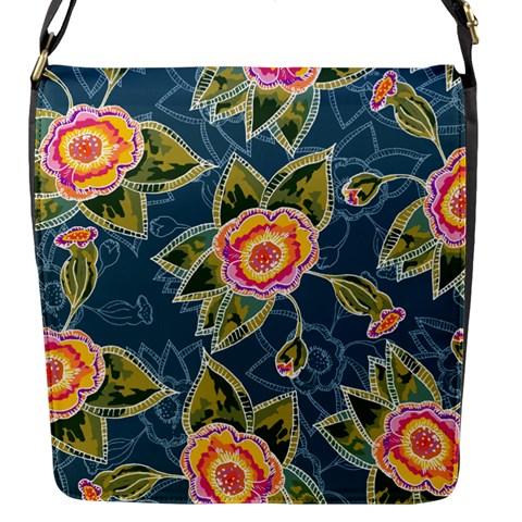 Floral Fantsy Pattern Flap Messenger Bag (S)