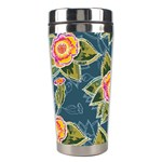 Floral Fantsy Pattern Stainless Steel Travel Tumblers Left