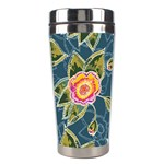 Floral Fantsy Pattern Stainless Steel Travel Tumblers Center