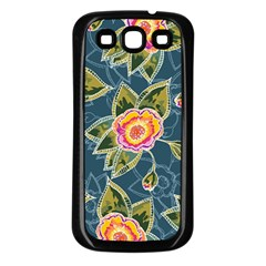 Floral Fantsy Pattern Samsung Galaxy S3 Back Case (black)