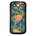 Floral Fantsy Pattern Samsung Galaxy S3 Back Case (Black) Front