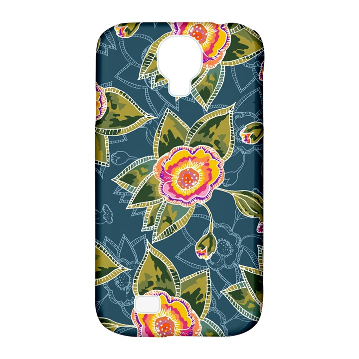 Floral Fantsy Pattern Samsung Galaxy S4 Classic Hardshell Case (PC+Silicone)