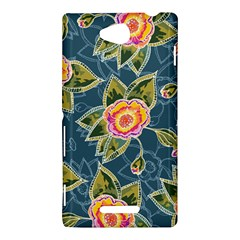 Floral Fantsy Pattern Sony Xperia C (S39H)