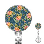 Floral Fantsy Pattern Stainless Steel Nurses Watch Front