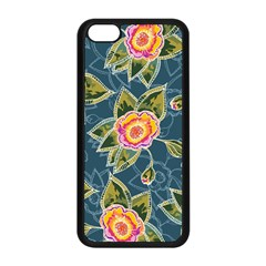 Floral Fantsy Pattern Apple iPhone 5C Seamless Case (Black)