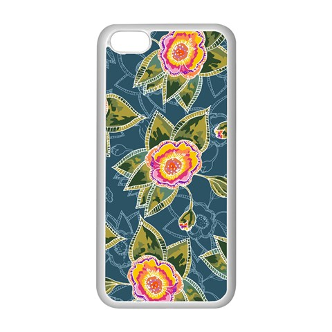 Floral Fantsy Pattern Apple iPhone 5C Seamless Case (White)