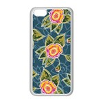 Floral Fantsy Pattern Apple iPhone 5C Seamless Case (White) Front