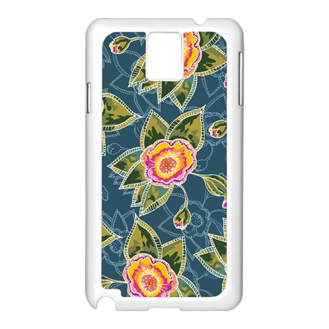Floral Fantsy Pattern Samsung Galaxy Note 3 N9005 Case (White)