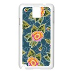 Floral Fantsy Pattern Samsung Galaxy Note 3 N9005 Case (White) Front