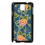 Floral Fantsy Pattern Samsung Galaxy Note 3 N9005 Case (Black) Front