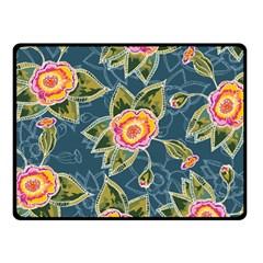 Floral Fantsy Pattern Double Sided Fleece Blanket (Small)