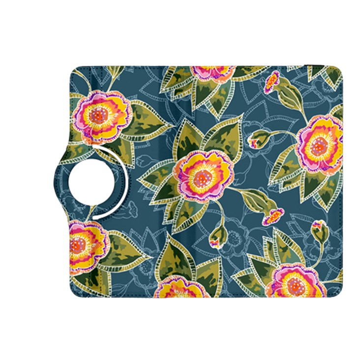 Floral Fantsy Pattern Kindle Fire HDX 8.9  Flip 360 Case
