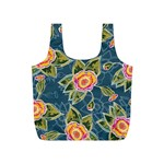Floral Fantsy Pattern Full Print Recycle Bags (S)  Back
