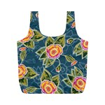 Floral Fantsy Pattern Full Print Recycle Bags (M)  Back