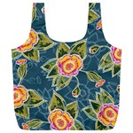 Floral Fantsy Pattern Full Print Recycle Bags (L)  Front